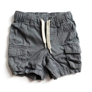 Old Navy Gray Cargo Shorts Size 12-18 Months